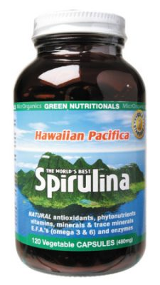 Hawaiian Pacifica Spirulina 120 vegetable capsules (480mg each)